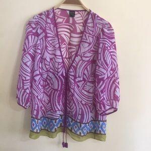 Nicole women's blouse Ssz worn twice sheer #052